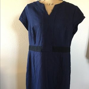 Boden color blocked fitted dress
